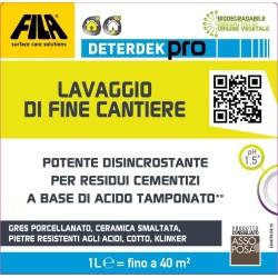 FILA Surface Care Solutions Deterdek PRO Detergente disincrostante Acido, rimuove i residui cementizi del Dopo Posa e Lo Sporco